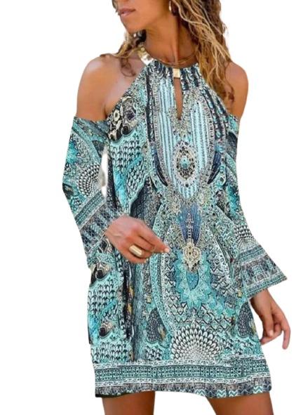 cold shoulder summer shift dress