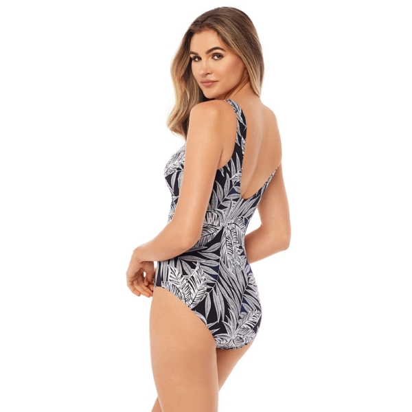 miraclesuit escape fronds with benefits black & white swimsuit 02